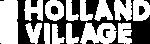 one holland village logo white